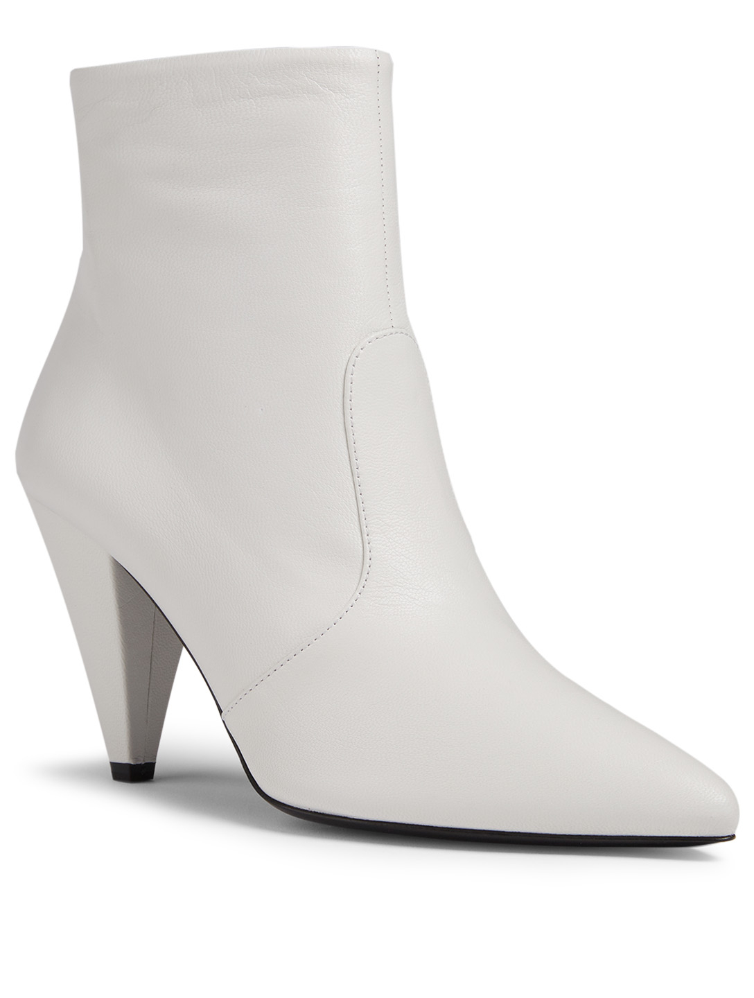PRADA Leather Ankle Boots Women's White