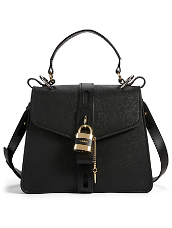 CHLOÉ Medium Aby Leather Day Bag Women's Black