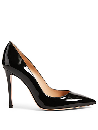 GIANVITO ROSSI Gianvito 105 Patent Leather Pumps Women's Black