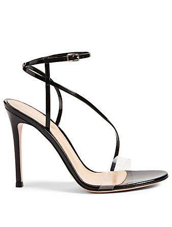 GIANVITO ROSSI PVC And Patent Leather Heeled Sandals Women's Black