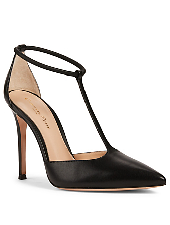 GIANVITO ROSSI Cheryl 105 Leather Pumps Women's Black