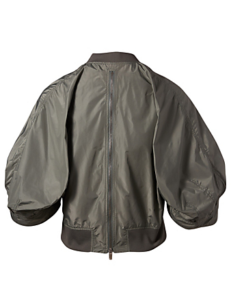 KUHO Balloon Sleeve Bomber Jacket Women's Neutral