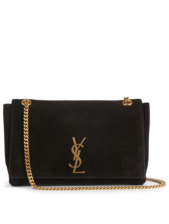 d734b870a2 SAINT LAURENT Medium Kate YSL Monogram Reversible Suede And Leather ...