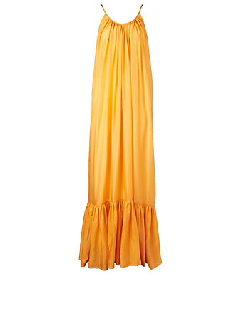 KALITA Brigette Silk Habotai Maxi Dress H Project Yellow