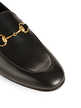 GUCCI Brixton Leather Loafers Designers Black