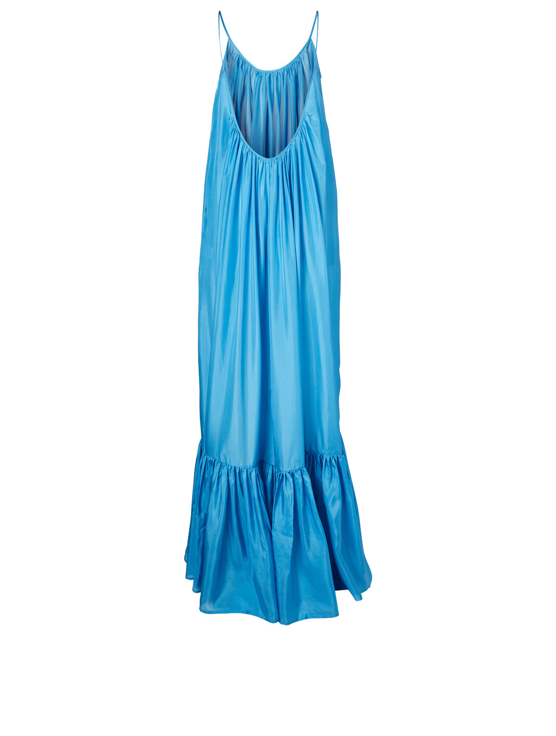 KALITA Brigitte Silk Habotai Maxi Dress H Project Blue