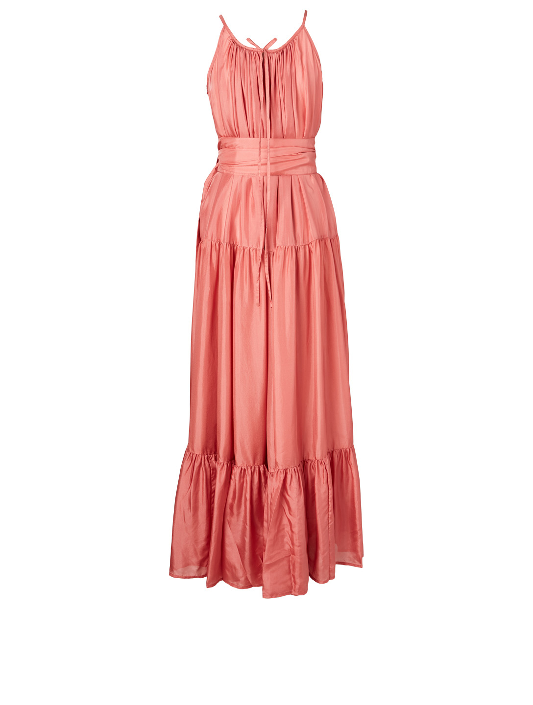 KALITA Genevieve Silk Habotai Maxi Dress H Project Pink