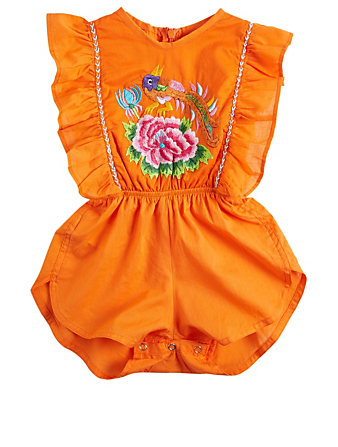 COCO & GINGER Delphine Baby Sunsuit Romper With Embroidery H Project Multi