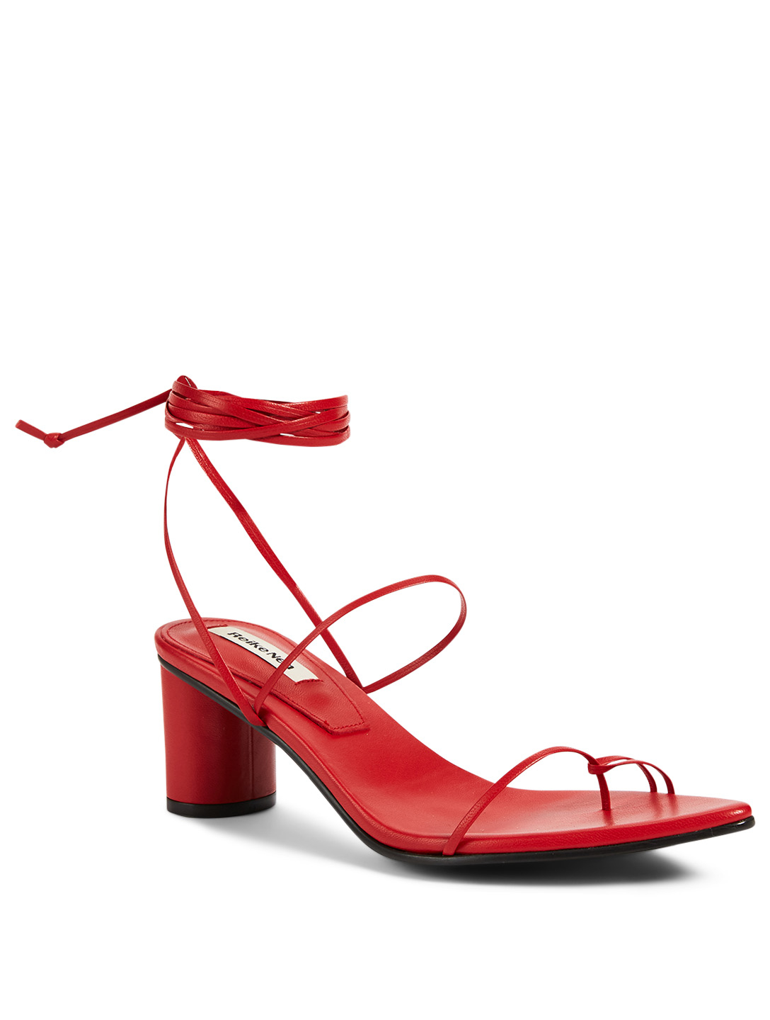 REIKE NEN Odd Pair Leather Heeled Sandals Femmes Rouge