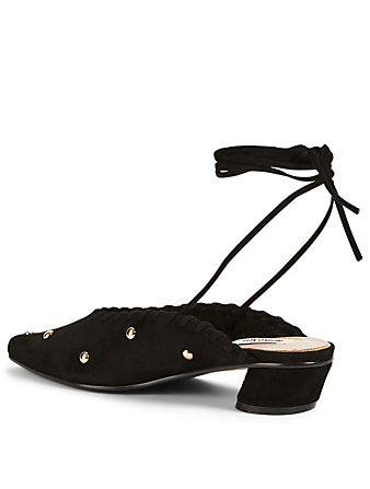REIKE NEN Turnover Dot Suede Mules Women's Black