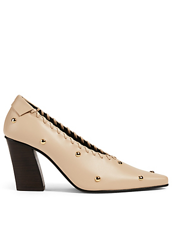 REIKE NEN Turnover Dot Leather Pumps Femmes Écru