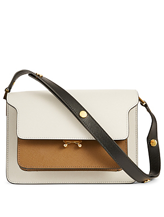 MARNI Medium Trunk Colourblock Leather Bag Women's Brown