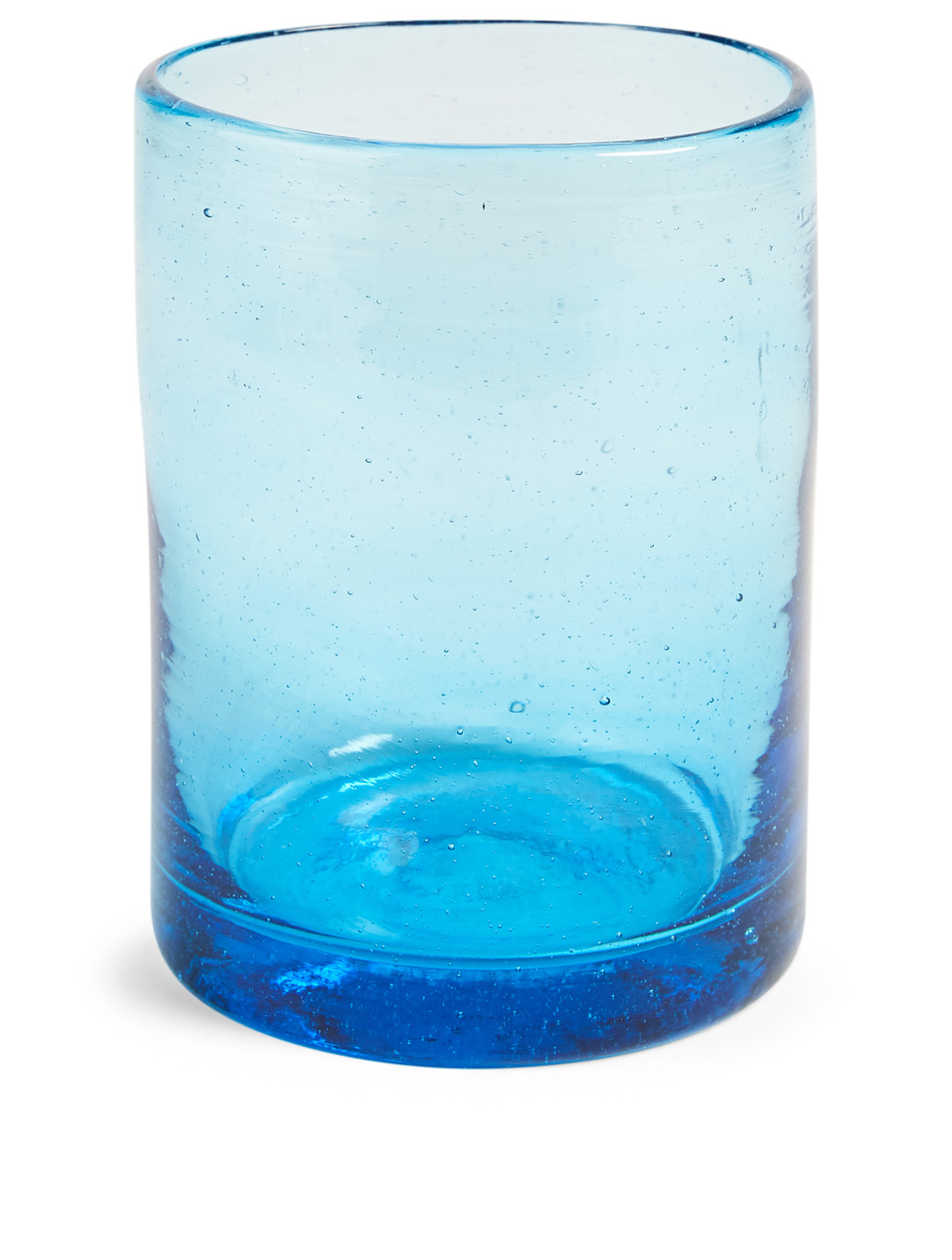 TURQUOISE MOUNTAIN Short Straight Tumbler Glass H Project Blue