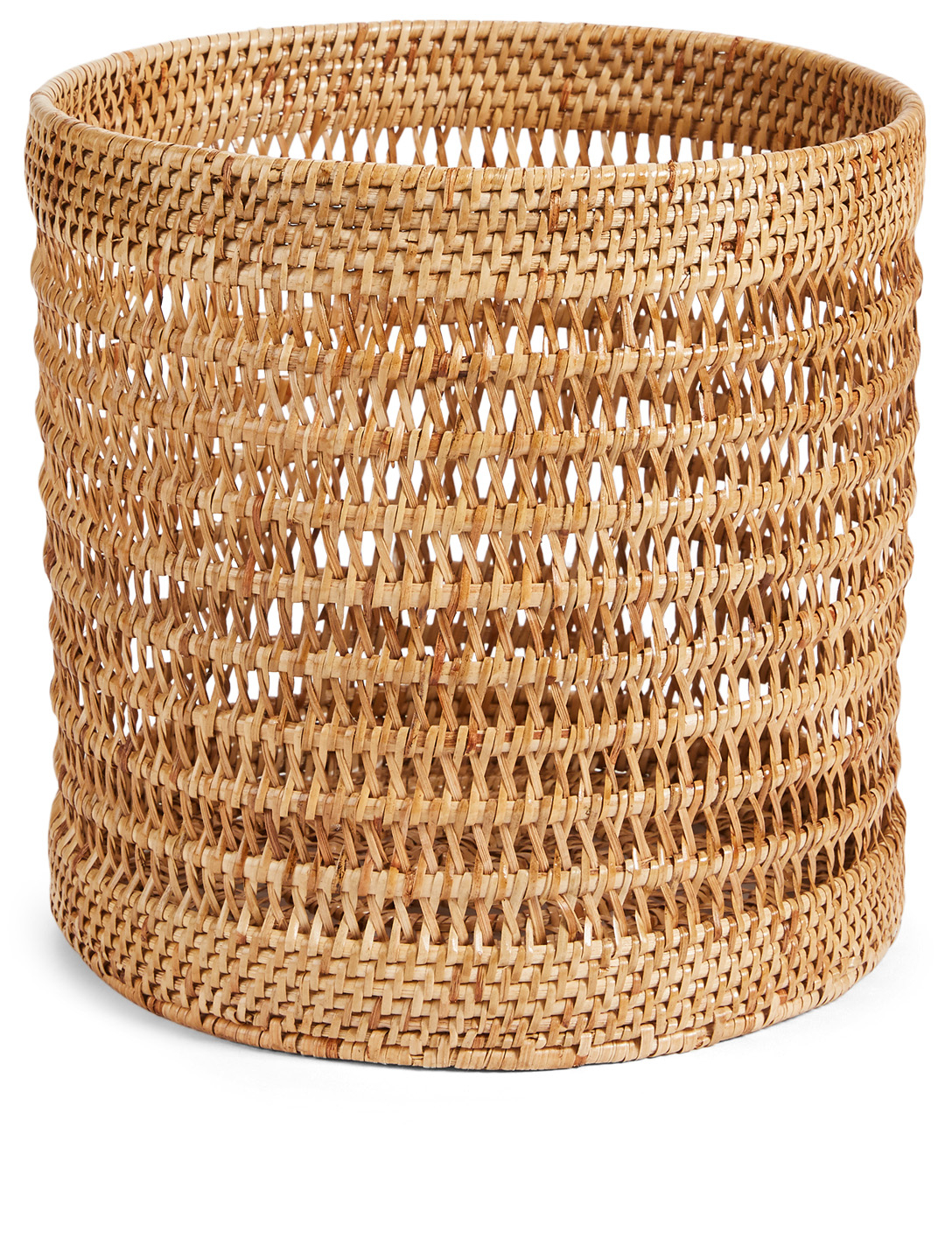 TURQUOISE MOUNTAIN Cylindrical Rattan Basket H Project