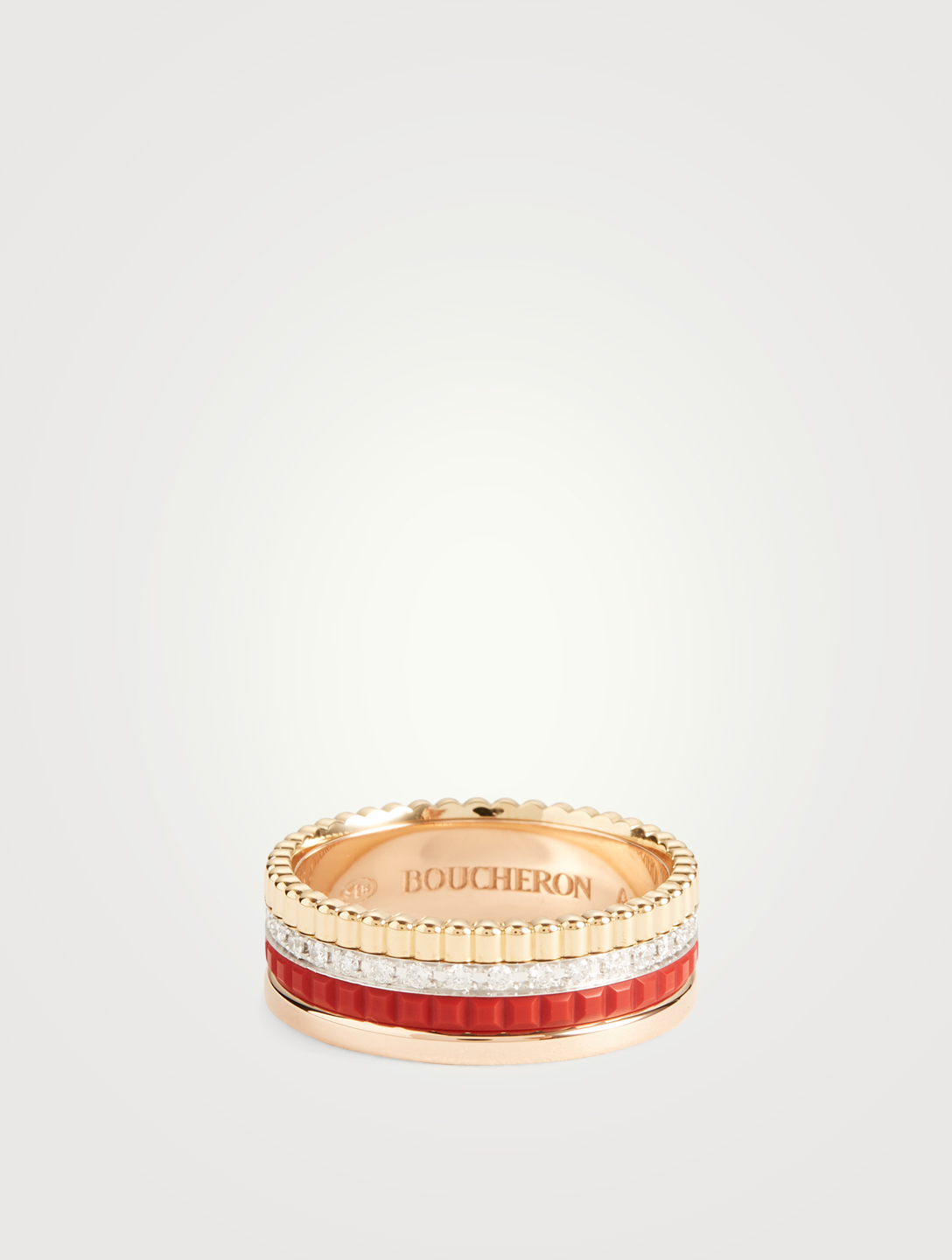 BOUCHERON Bague Quatre Red Edition à pavé de diamants Femmes Or