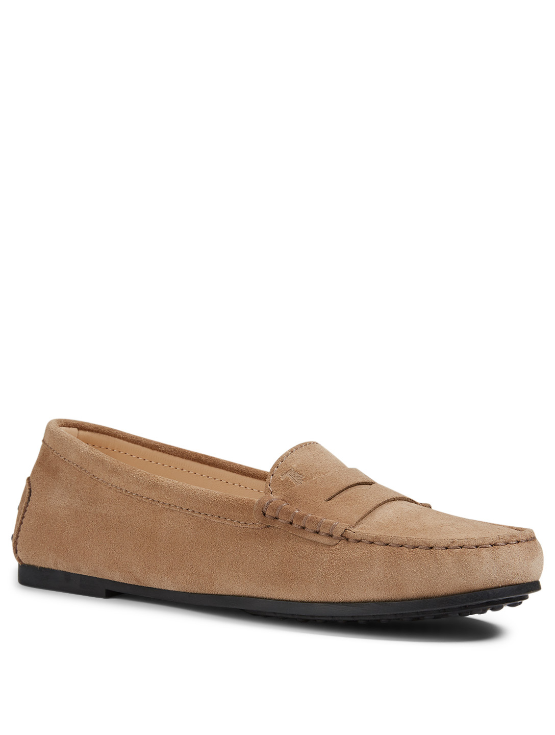 TOD'S City Gommini Suede Driving Shoes Women's Neutral