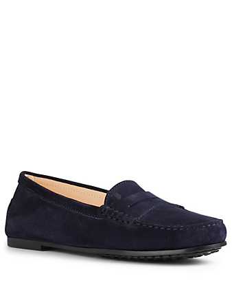 TOD'S City Gommino Suede Driving Shoes Women's Blue