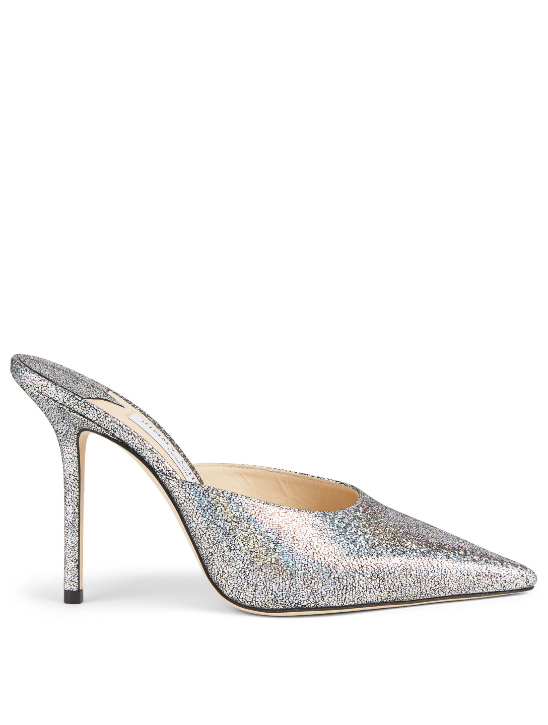 JIMMY CHOO Rav 100 Metallic Leather Mules Women's Multi