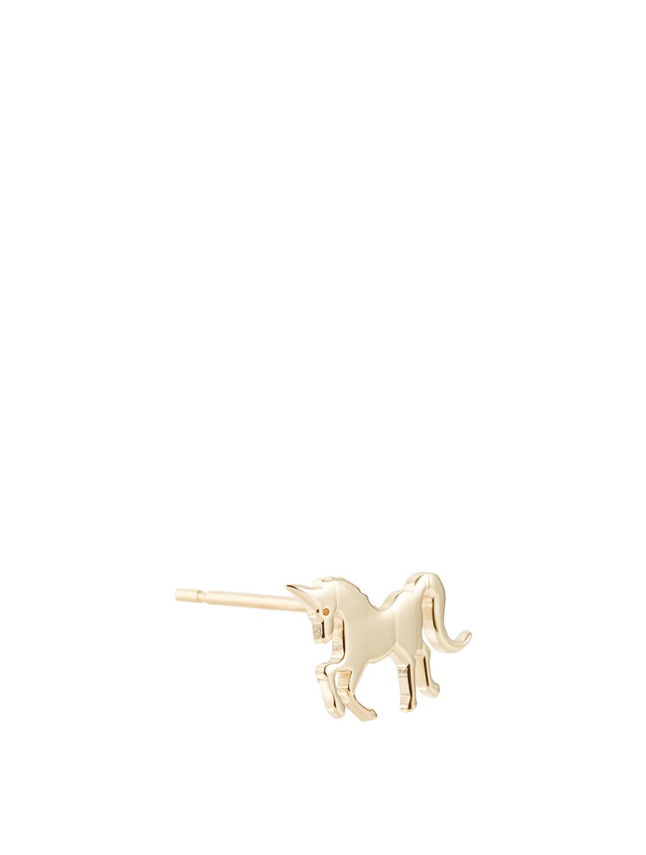 615d4bb6b ... SYDNEY EVAN Tiny 14K Yellow Gold Pure Unicorn Left Stud Earring Women's  Gold