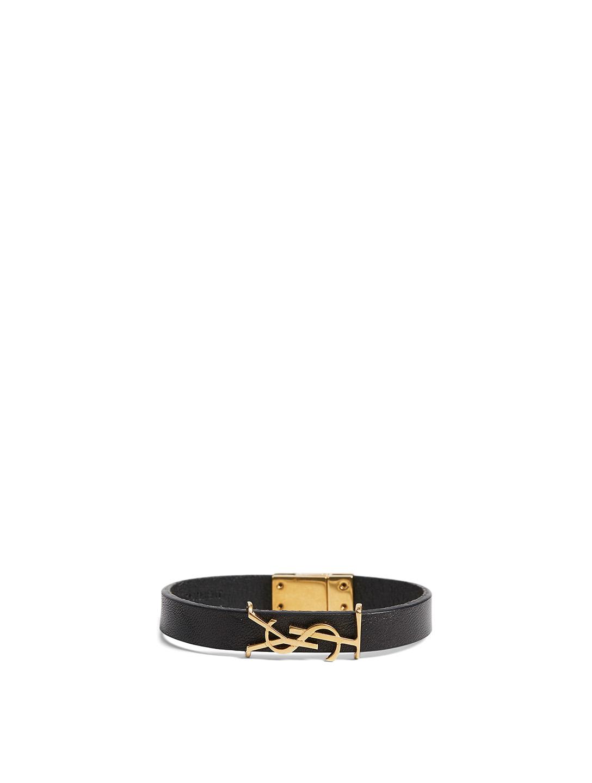 c00dd20114 SAINT LAURENT Opyum YSL Monogram Leather Bracelet | Holt Renfrew