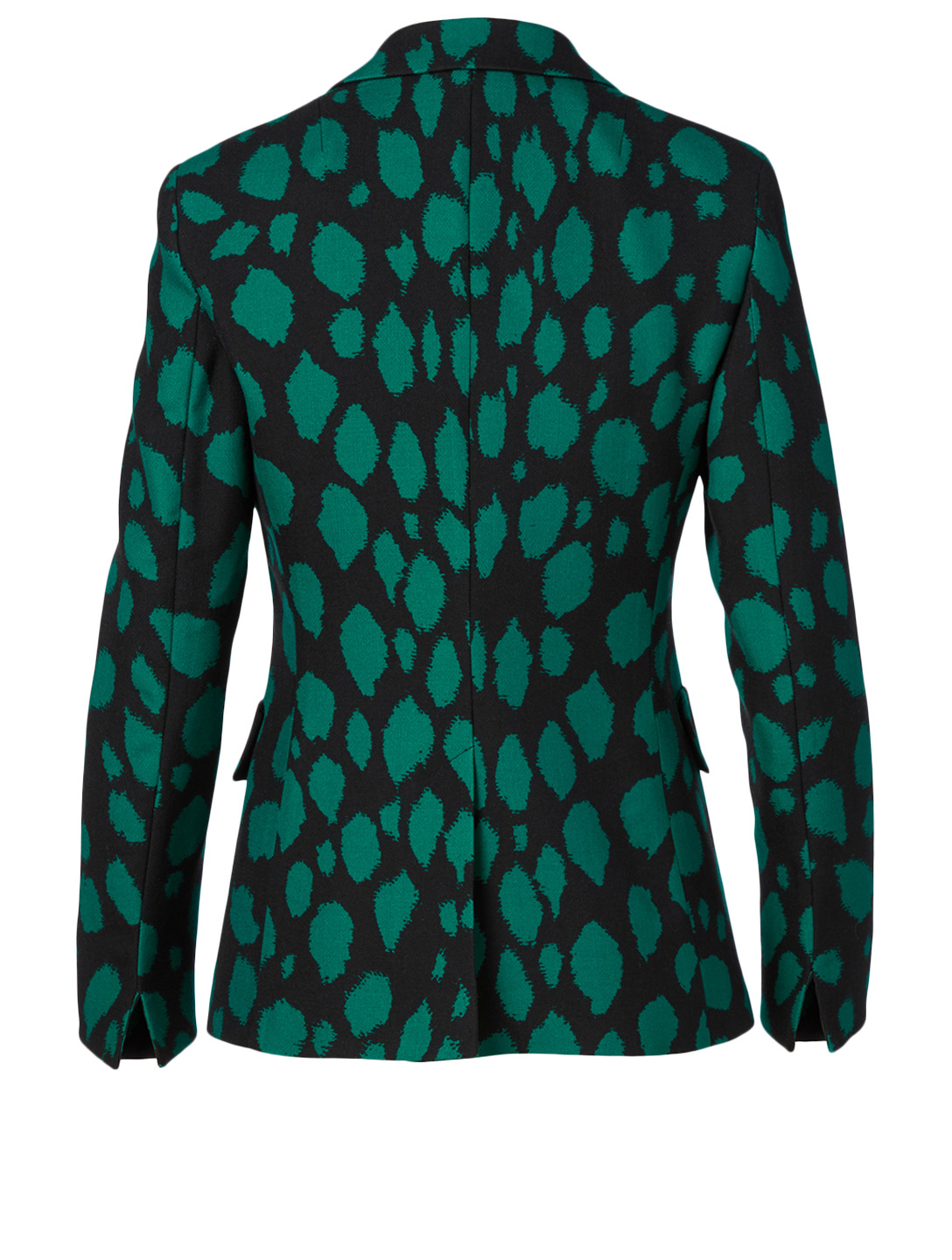 AKRIS PUNTO Wool Blazer In Leopard Print Women's Green