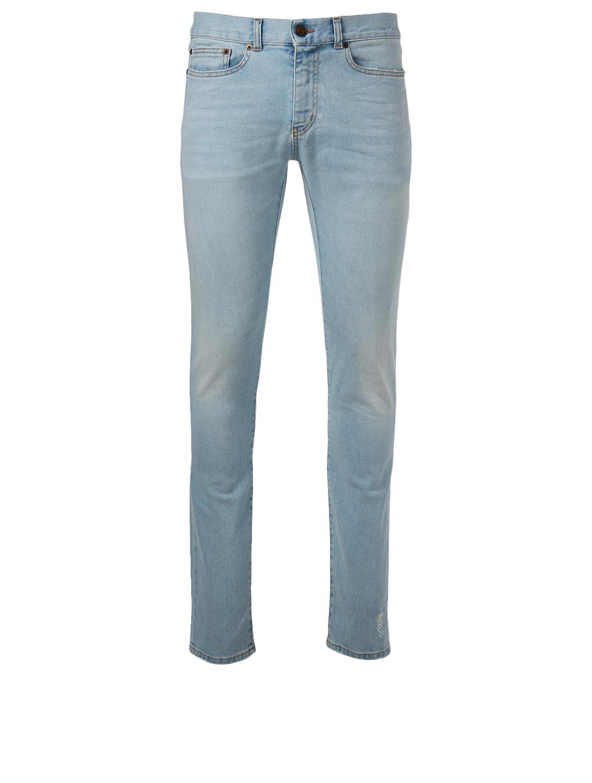 30df860988f SAINT LAURENT Cotton Stretch Skinny Jeans   Holt Renfrew
