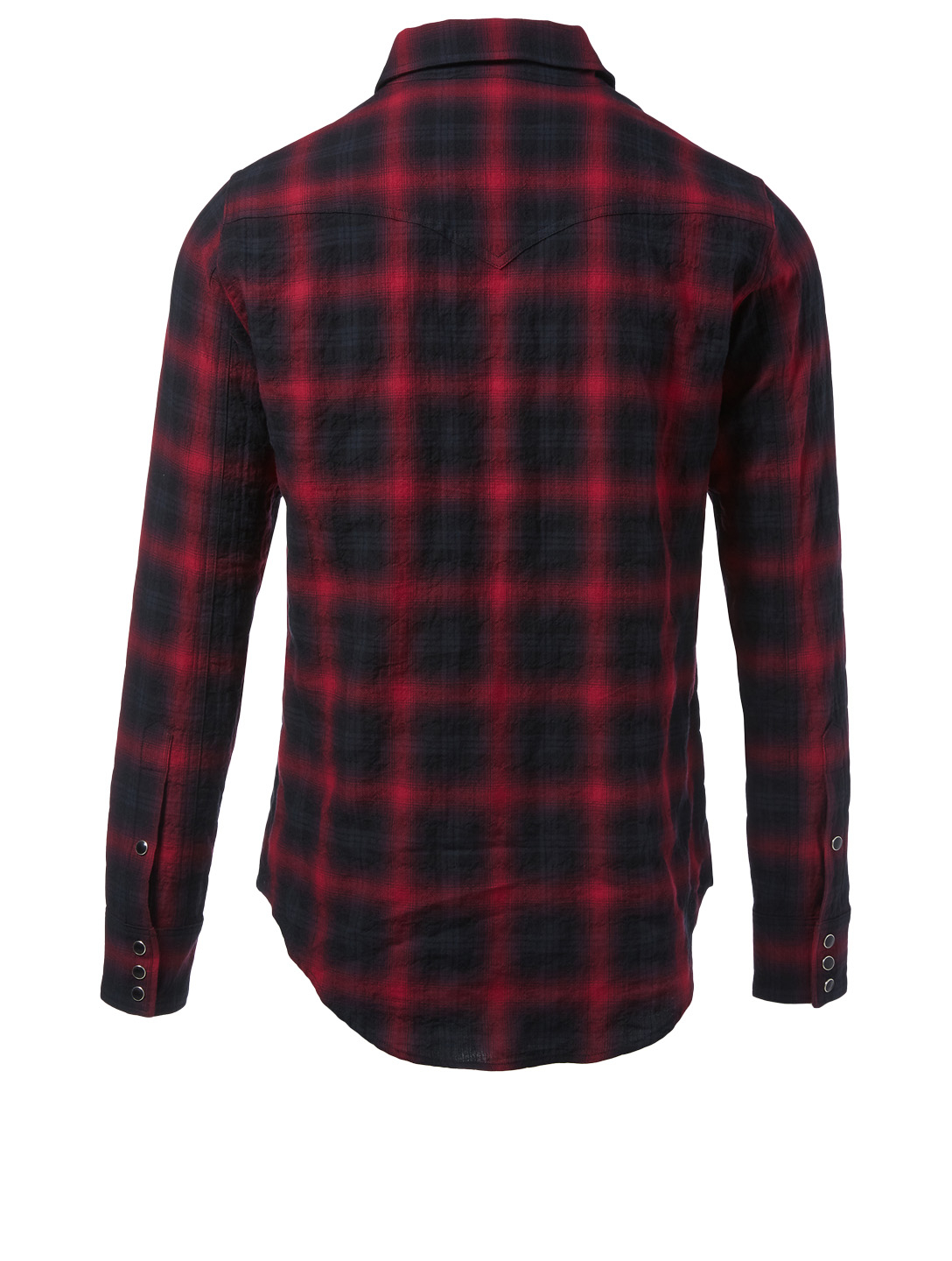 SAINT LAURENT Cotton Shirt In Check Print Men's Multi