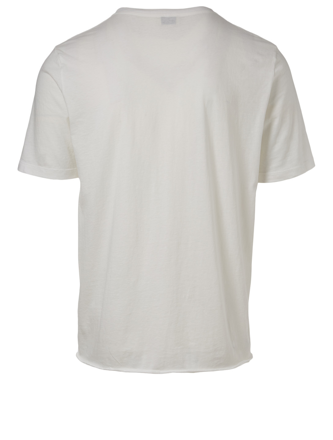 SAINT LAURENT Cotton Logo T-Shirt Men's White