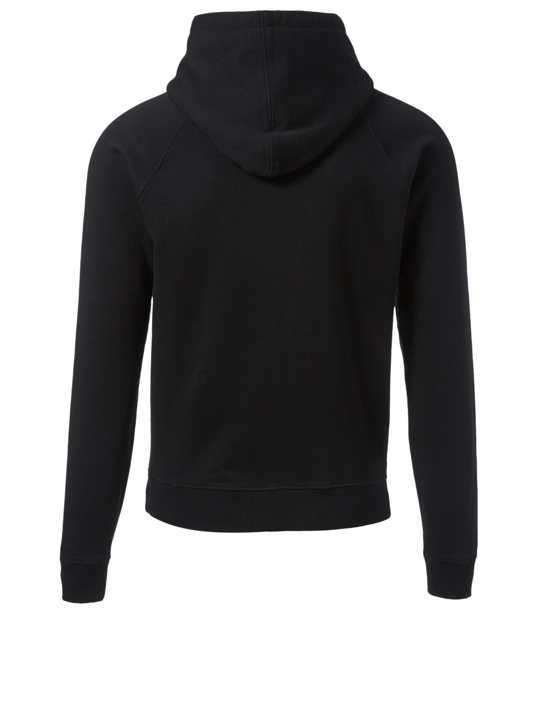 SAINT LAURENT 24 University Cotton Hoodie Men's Black