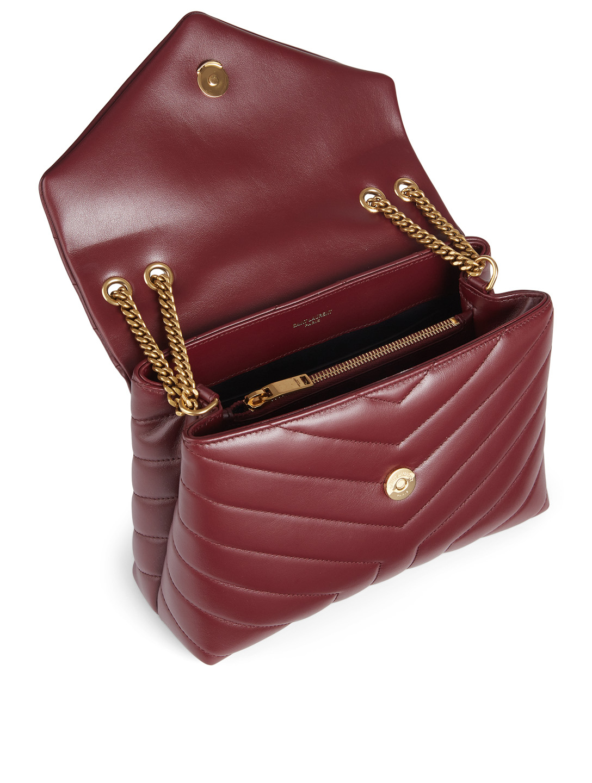Saint Laurent Small Loulou Ysl Monogram Leather Chain Bag