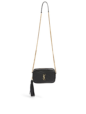 SAINT LAURENT Mini Lou YSL Monogram Leather Bag Women's Black
