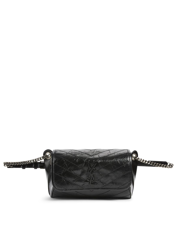 01dcab26e9 SAINT LAURENT Niki YSL Monogram Leather Belt Bag   Holt Renfrew