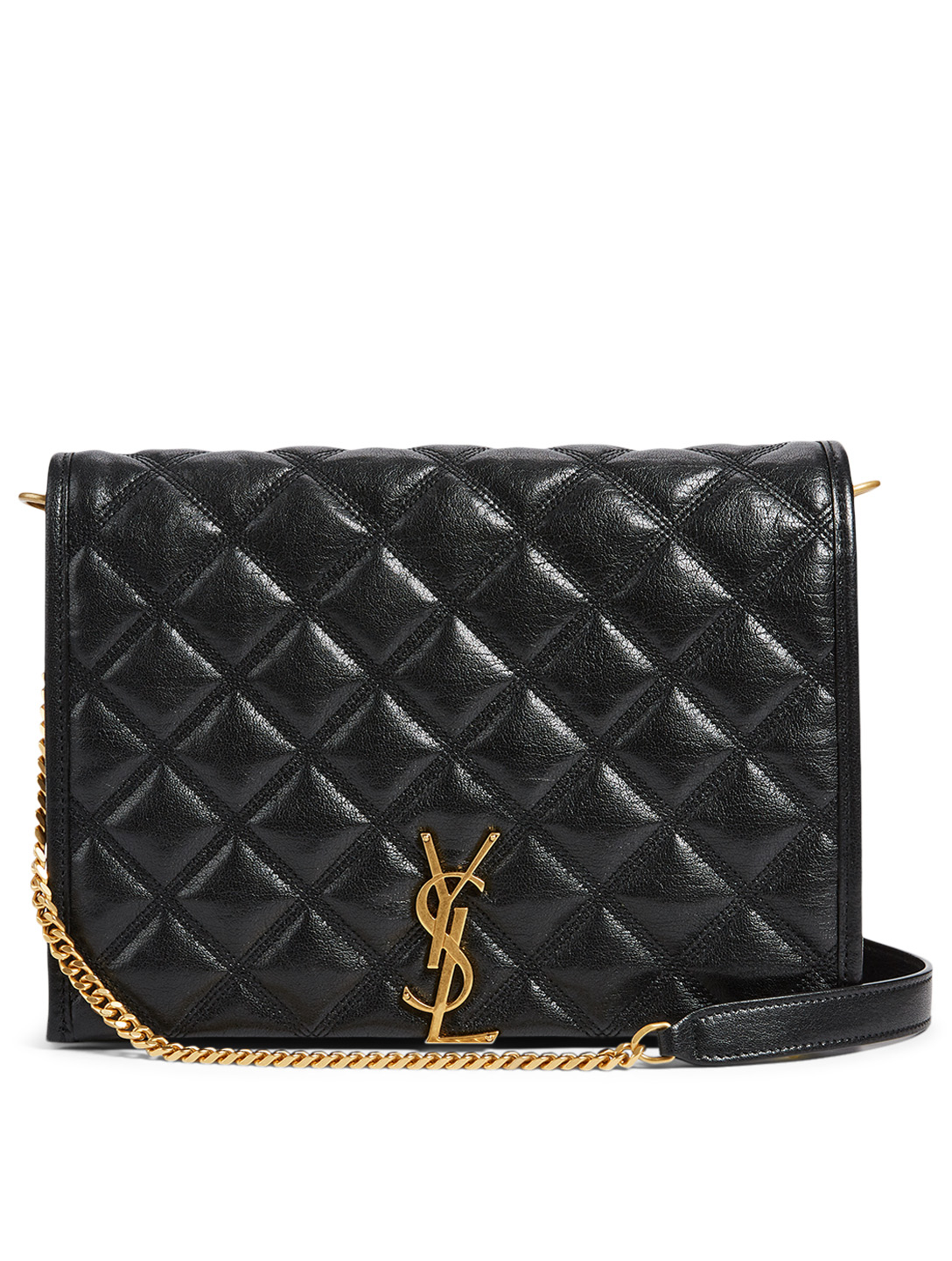 Small Becky Ysl Monogram Leather Bag by Holt Renfrew