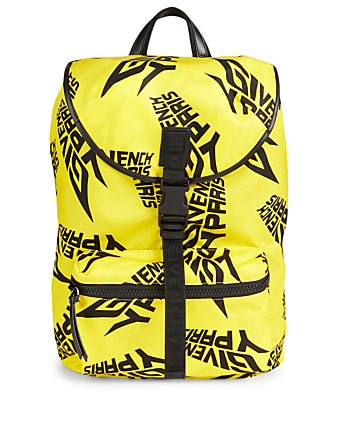 GIVENCHY Nylon Backpack In Logo Print Men's Yellow