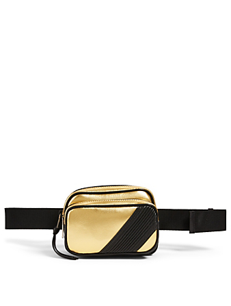 GIVENCHY MC3 Metallic Leather Belt Bag Men's Metallic