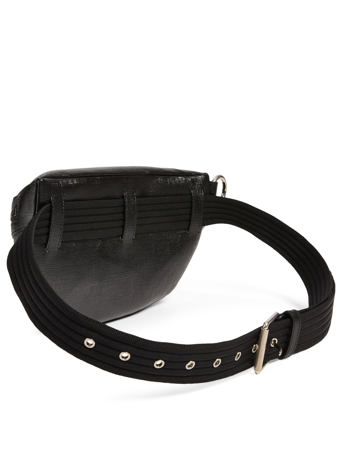 GIVENCHY Tag Givenchy Signature Coated Canvas Belt Bag Men's Black