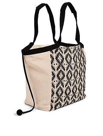 MERCADO GLOBAL Rosa Cotton Tote Bag H Project Black