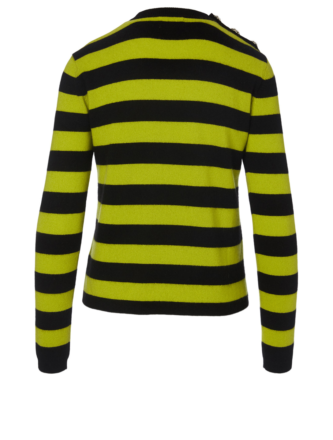 GANNI Cashmere Sweater in Stripe Print Women's Yellow