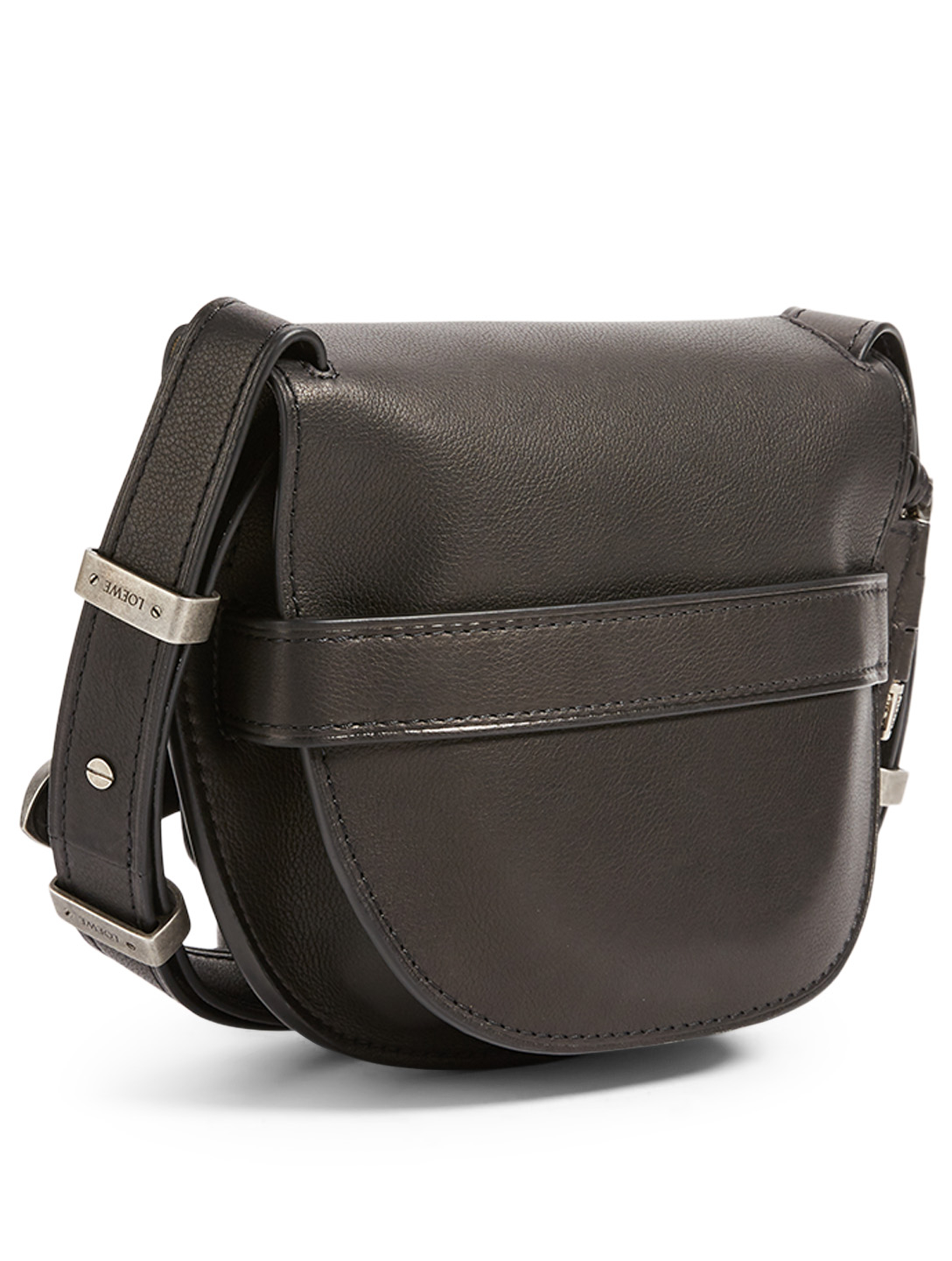 LOEWE Small Gate Western Leather Crossbody Bag Women's Black