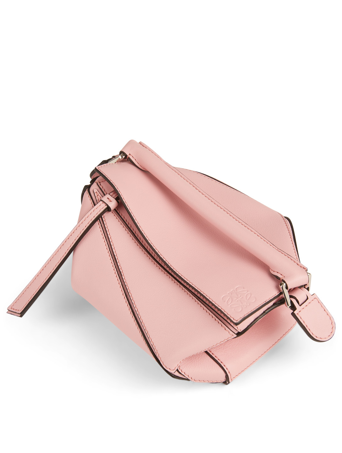 LOEWE Mini Puzzle Leather Crossbody Bag Women's Pink