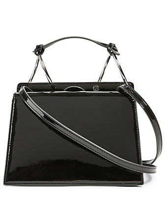 DANSE LENTE Phoebe Bis Patent Leather Crossbody Bag Women's Black