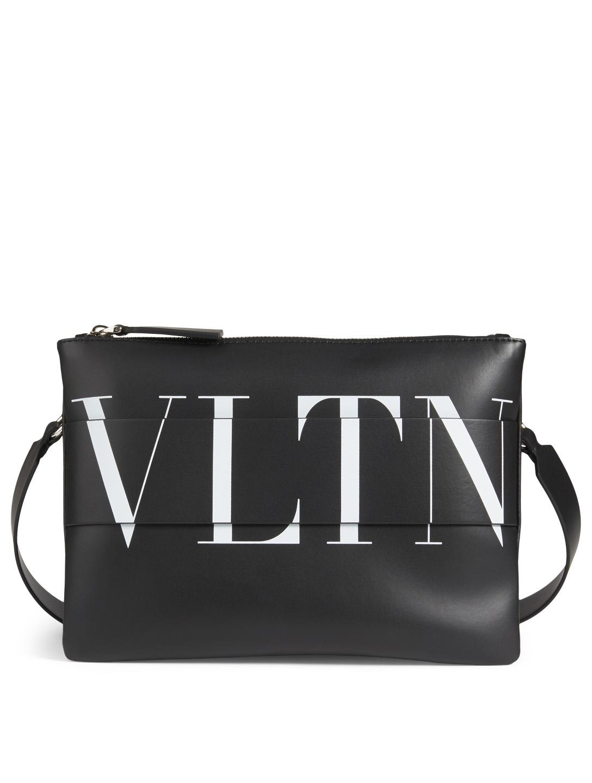 0d95599a3 VALENTINO GARAVANI VLTN Leather Crossbody Bag Men's Black ...