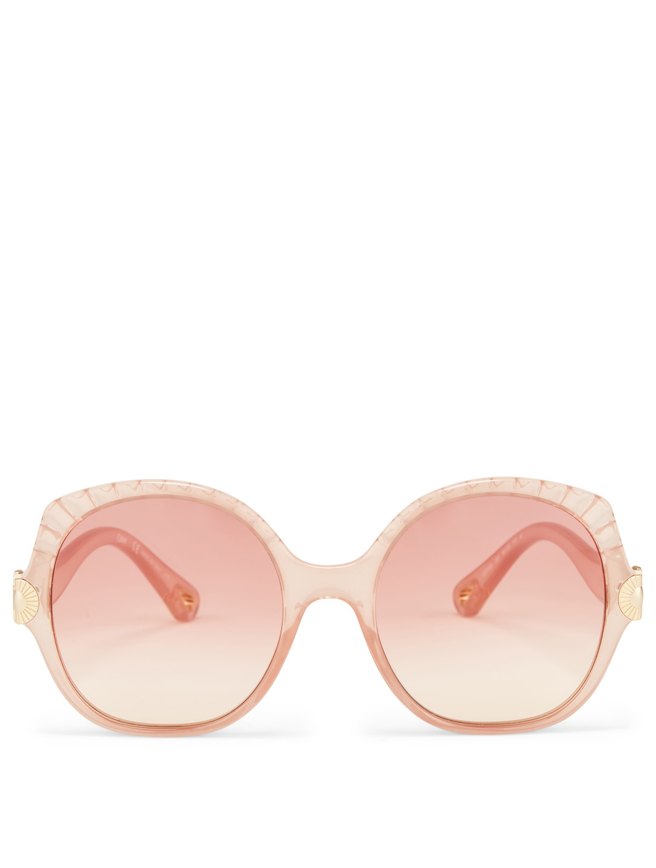 443ab96f4 CHLOÉ Vera Seashell Sunglasses Women's Pink ...