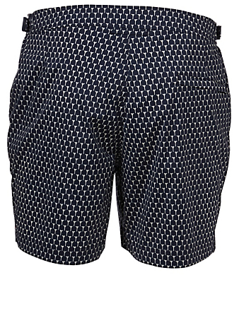 ORLEBAR BROWN Bulldog Cerchio Mid-Length Swim Shorts Men's Blue