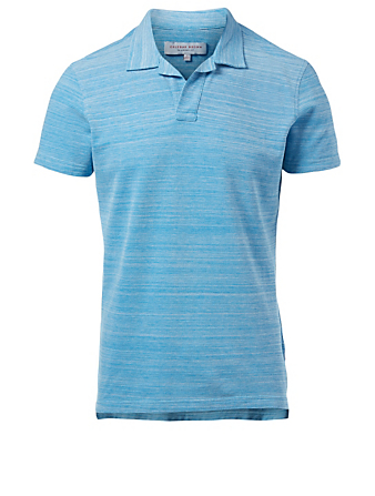 ORLEBAR BROWN Felix Resort Pique Polo Shirt Men's Blue