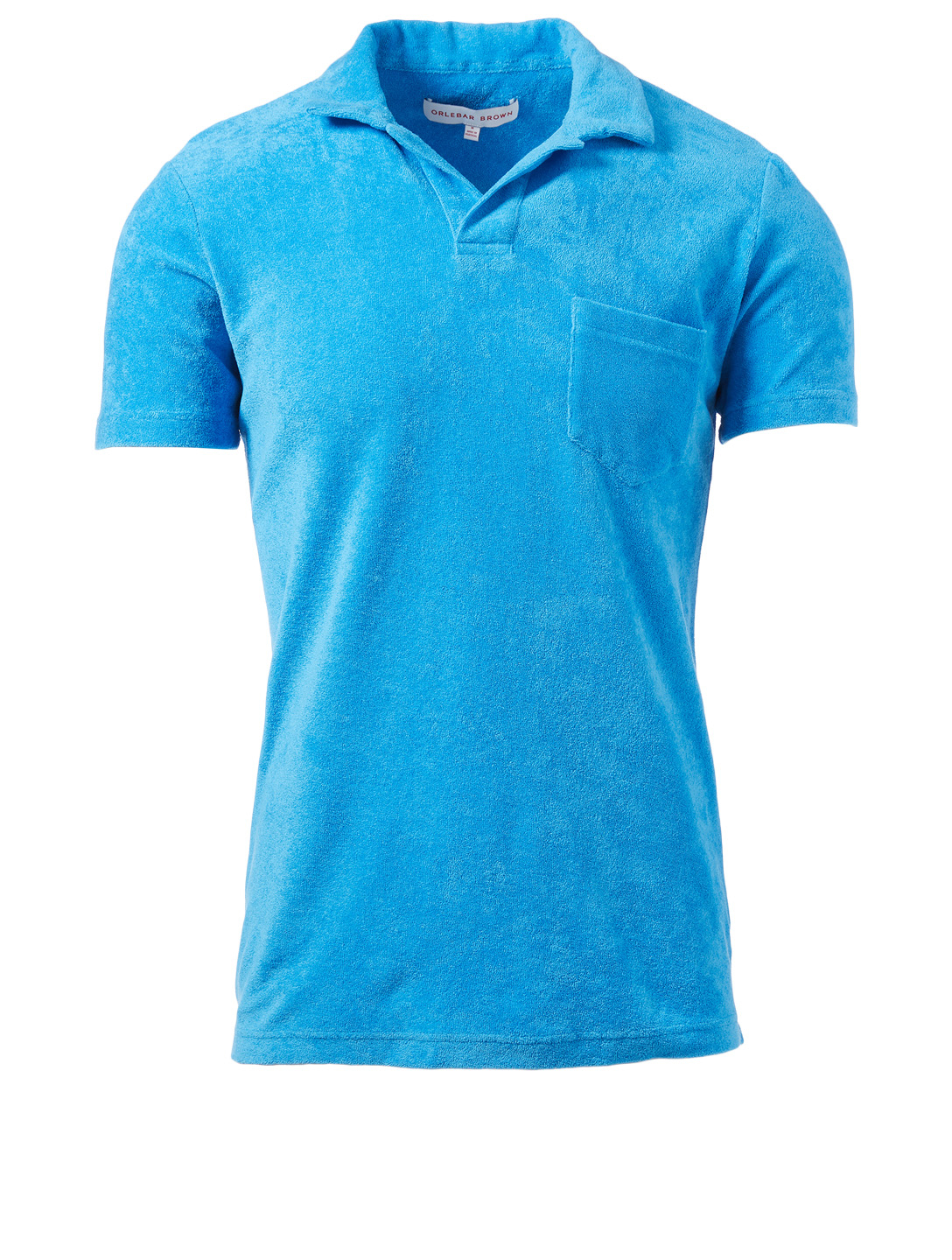 ORLEBAR BROWN Terry Towelling Resort Polo Shirt Men's Blue