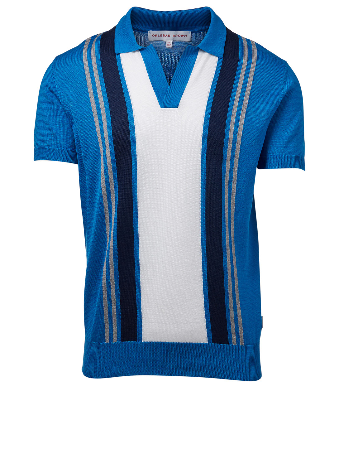 ORLEBAR BROWN Horton Resort Polo Shirt With Stripes Men's Blue