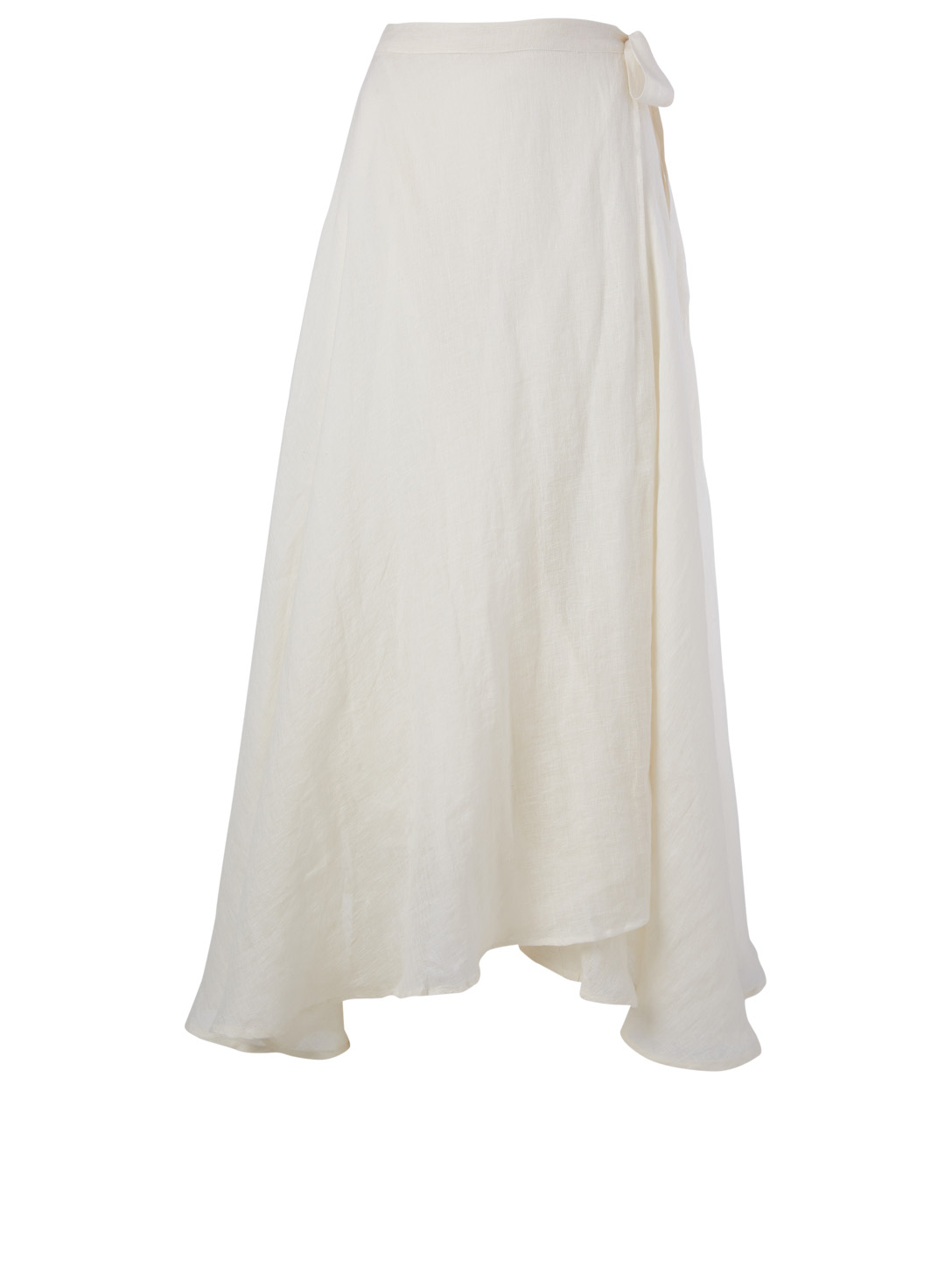 VITAMIN A Positano Linen Wrap Skirt H Project Neutral
