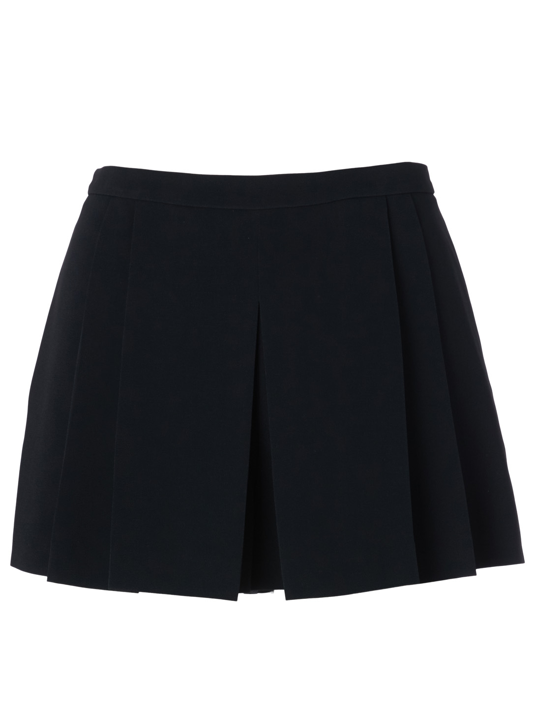 RED VALENTINO Pleated High-Waisted Shorts Women's Black