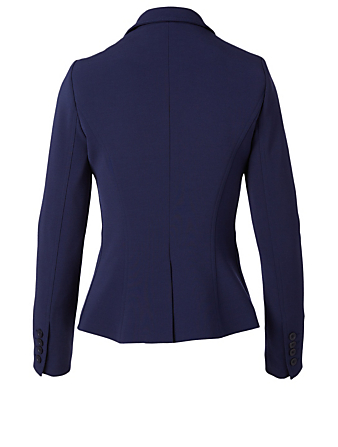SMYTHE Asymmetrical Wrap Blazer Women's Blue